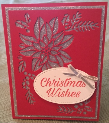 Peaceful Poinsettia, Christmas Wishes, Stampin' Up!